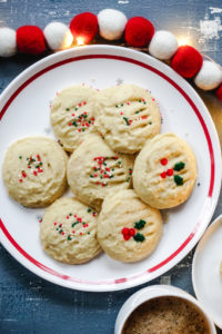 Whipped Vanilla Shortbread Cookies