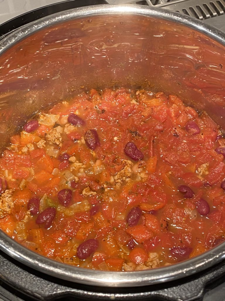 Turkey chili in the Instant Pot