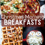 a collage of christmas breakfast recipes