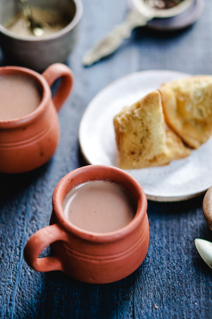 chai and samosas