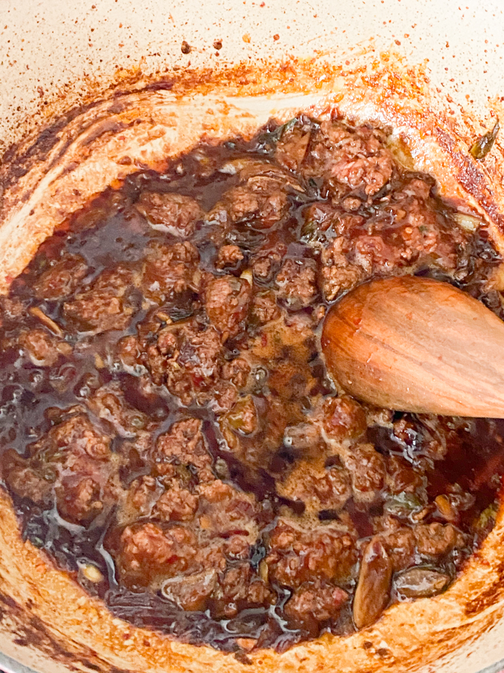 pork cooked in the sauce