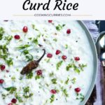 curd rice in a bowl with text on image